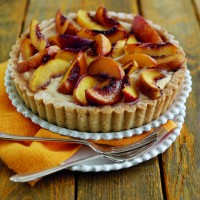 South African nectarine and spiced ricotta tart HR
