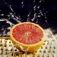 Grapefruit with water