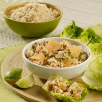 Minced chicken salad with coriander, lemongrass and pink grapefruit 2