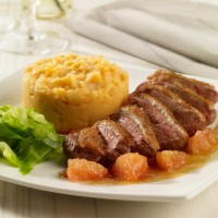 Roasted duck with sweet wine and grapefruit sauce 2